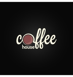 Coffee label design background vector