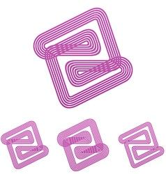 Color line abstract logo design set vector