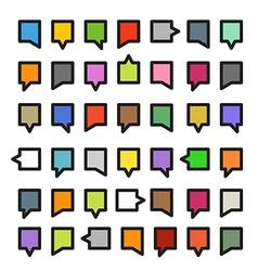 color speech clouds vector image