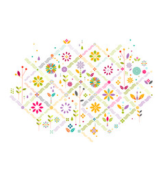 Colorful flower symbol and graphic decoration vector