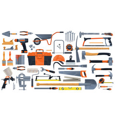 Construction diy and repair tools vector