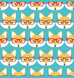 cute cartoon foxes vector image