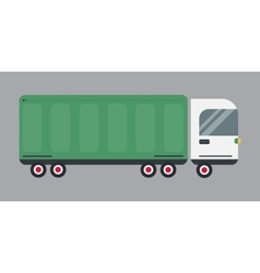 Delivery transport cargo logistic truck vector image
