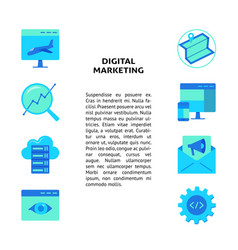 digital marketing concept banner with place for vector image