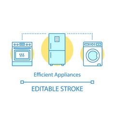 Efficient appliances concept icon vector