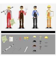 engineers vector image