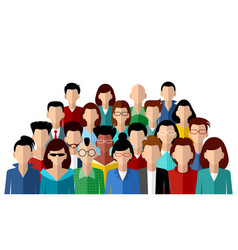 Faceless community of people vector