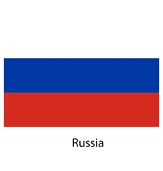 Flag of the country russia vector