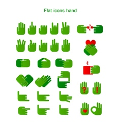 flat icons hand vector image