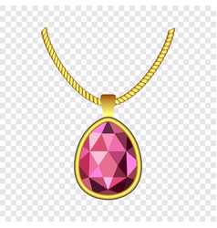 garnet necklace jewelry icon realistic style vector image