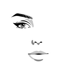 Glamour fashion beauty woman face vector
