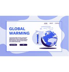 Global warming concept cartoon vector