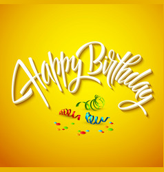Happy birthday card typography vector
