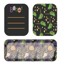 Happy Halloween invitation party cards vector