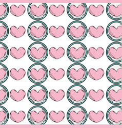 Heart emblem to love and romantic symbol vector