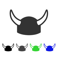 Horned helmet flat icon vector