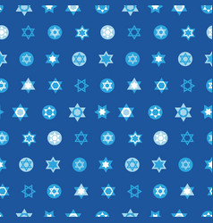 jewish stars set seamless pattern vector image