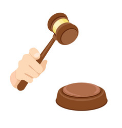 judge gavel decision icon flat style vector image