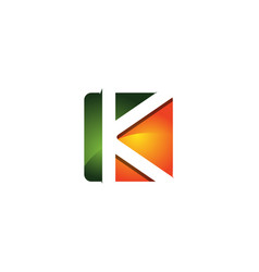 k 3d colorful square letter logo icon design vector image