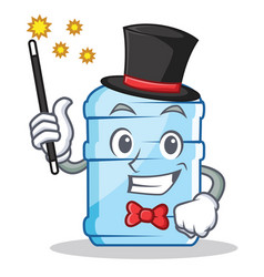Magician gallon character cartoon style vector