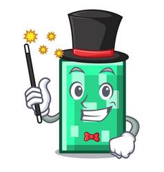 Magician rectangle mascot cartoon style vector