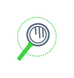 Magnifying glass with handle examination vector