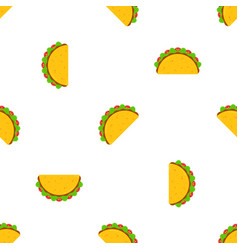 Mexican taco tuesday festival seamless pattern vector