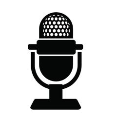 Microphone icon vector