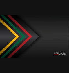 Modern colorful arrows with lithuanian colors vector