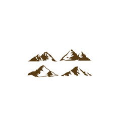 mountains logo icon vector image