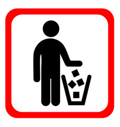 no littering sign in vector image