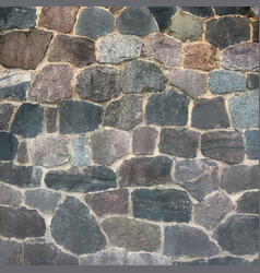 Old stone castle wall floor vector