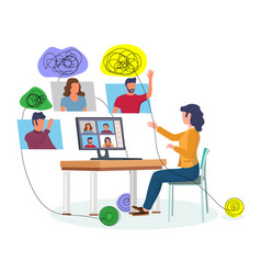 online group psychotherapy flat vector image