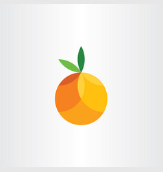 Orange citrus fruit geometric icon vector