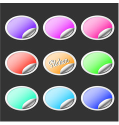 paper stickers with peel off corner collection vector image