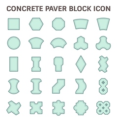 Paver block icon blue vector