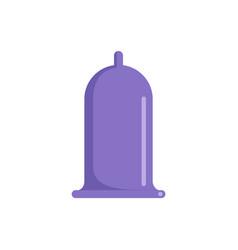 purple condom icon flat style vector image