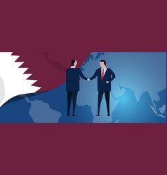 qatar international partnership diplomacy vector image