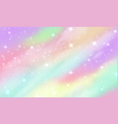 rainbow unicorn background mermaid glittering vector image
