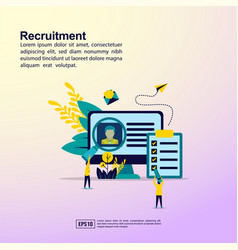 recruitment concept with people character for vector image