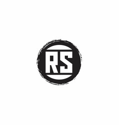 Rs logo initial letter monogram with abstract vector