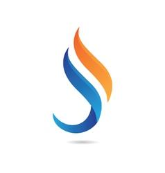 S Flame Logo vector