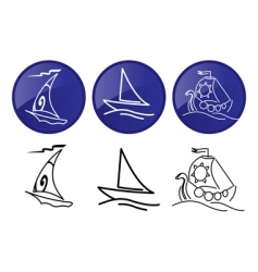 sailing ships vector image vector image