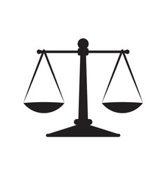 Scales justice icon isolated on white background vector
