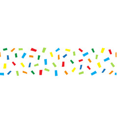 seamless horizontal border doodle confetti vector image