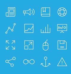 Set of line icons for mobile - web applications vector image