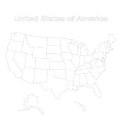 Set with map of united states of america vector