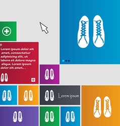 shoes icon sign buttons Modern interface website vector image