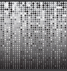 Silver dot halftone abstract background vector