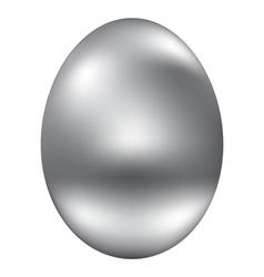 Silver egg vector